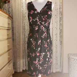 NWT Chaps Sleeveless Floral Dress